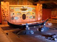 Interior of Chief Shakes Tribal House